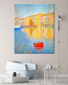 ⛵️ Signac, Saint Tropez i pointylizm.  Dzisiaj 82 rocznica śmierci francuskiego neoimpresjonisty Paula Signaca.  Dzieła Moneta zawróciły Go z drogi architekta a Seurat stał się Jego mistrzem.  Mamy dla Was 76 obrazów - kompozycji złożonych z gęsto rozmieszczonych, barwnych punktów i kresek malowanych czubkiem pędzla, chaosu małych kropek, który kształtu nabiera, gdy na obraz patrzysz z pewnej odległości.    'The red buoy in the harbour of Saint Tropez' - Paul Signac Kole