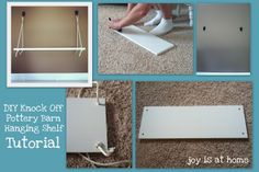 Joy Is At Home: Pottery Barn Hanging Shelf Knockoff