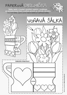 8 Martie, Animal Coloring Pages, Preschool Activities, Diy And Crafts, Valentine's Day Diy, Note Cards, Letters, Hobbies, Mother's Day