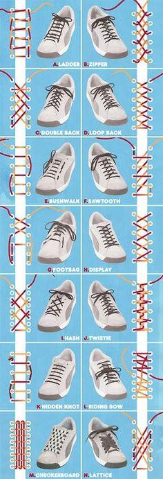 The creative Suitcase: 14 formas creativas de llevar los cordones de tus zapatillas