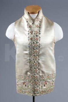 Waistcoat 1790, Made of satin