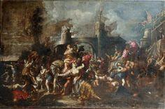 Antonio LAGORIO (actif à Gênes au XVIIè siècle)- L'enlèvement