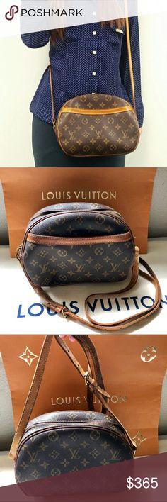 4b8fdcfafb6e Louis Vuitton Blois Brown Monogram Crossbody Bag Authentic Louis Vuitton  Brown Monogram Blois Shoulder Bag