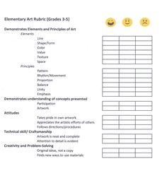 This is a rubric I use to score my upper elementary art students.