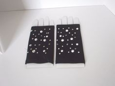 black studded  finger less gloves new with tags Halloween costume #unbranded #EverydayGloves