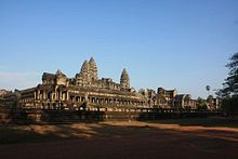 Angkor Wat is a temple complex at Angkor, Cambodia, built by King Suryavarman II in the early 12th century as his state temple and capital city