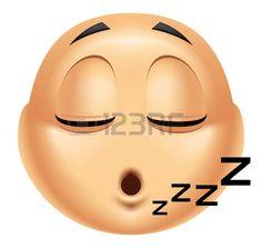 Emoticon dormir Foto de archivo