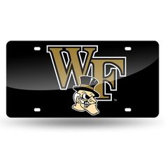 Wake Forest Demon Deacons Laser Cut License Plate - Black