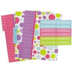 Organizing your files is a little more fun with these bright folders and labels.   Shop Hobby Lobby