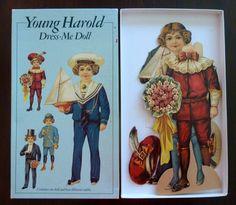Vintage Young Harold Dress-Me Paper Doll (1991) England - Paper Ephemera
