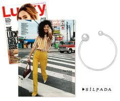 The '70s are back in a big way this year and @luckymagazine layers our Have a Ball Bracelet to complete the vibe. #SilpadaStyle
