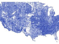 ALL the rivers in the United States on a single beautiful interactive map!