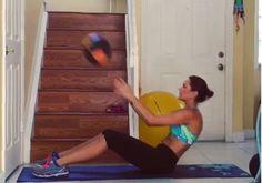 6 abdominais para fazer com a bola