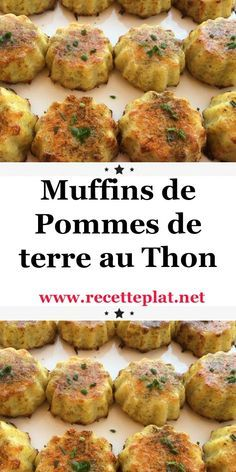 Discover this delicious recipe for tuna potato muffins, easy and simple - Healthy Muffin Recipes, Ww Recipes, Fish Recipes, Healthy Dinner Recipes, Crockpot Recipes, Healthy Family Dinners, Easy Meals, Batch Cooking, Gourmet