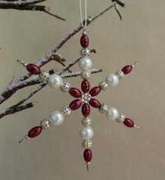 Beaded Snowflake Decoration £3.50