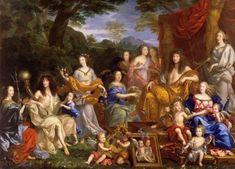 3) im zweiten Vorzimmer hingen viele Gemälde von Ludwig XIV und seiner Familie