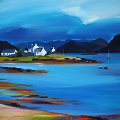 Buy Prints & Paintings by the Leading Contemporary Scottish Landscape Painter Watercolor Landscape, Abstract Landscape, Landscape Paintings, Guache, Online Painting, Acrylic Art, Amazing Art, Scenery, Art Gallery