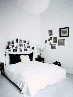 Dream sweet in a black and white room.