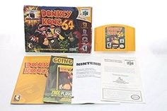 Donkey Kong 64 Nintendo N64 Complete Box Manual Expansion Pack CIB Collectors Ed Donkey Kong 64, Nintendo N64, Gaming Computer, The Collector, The Expanse, Stocking Stuffers, Board Games, Manual, Jigsaw Puzzles