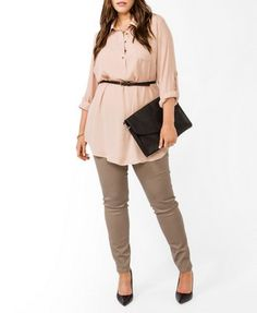 Belted Chiffon Tunic | FOREVER 21 - plus size