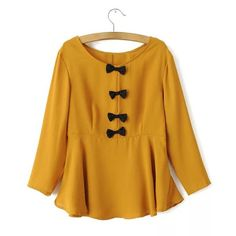 Sweet Style Scoop Neck Bowknot Splicing Long Sleeve Blouse For Women