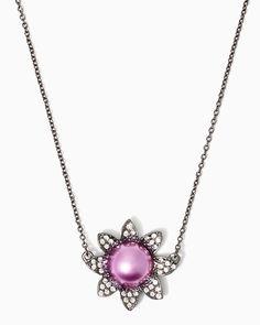 charming charlie | Pearl Blossom Necklace | UPC: 410007055307 #charmingcharlie