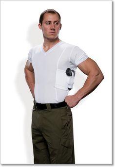 88bad56301955 Men s Concealment V-Neck Single Shirt UnderTech Undercover V-Neck  Concealment T-Shirt hugs