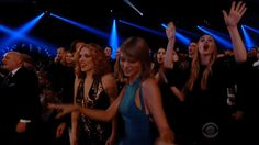 Indeed, Taylor Swift threw a Grammys 2015 front row dance party - Zap2it | News & Features