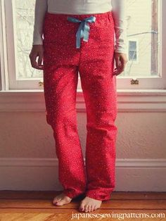 Japanese sewing patterns - Free Women's PJ Pajama Pants Sewing Pattern