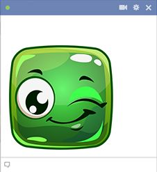 Share a wink with someone special when you send this little smiley in a message or post it in a comment.