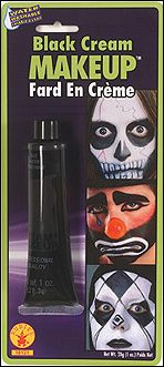 This is a .7oz (19g) container of Black makeup cream.This kit comes with instructions perfect for your Zombie Costume. Also goes great with our special Halloween temporary tattoos.
