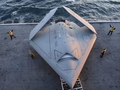 'A chance to see the future': U.S. Navy lands fighter-jet sized drone on aircraft carrier for first time