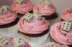 Cupcake using sugar cubes. I'm sure you can also make hershey kiss Sorry markers and some other things for a fun kids game party or ladies bunco night.