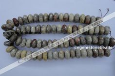 10*20mm faceted rondelle natural chrysanthemum agate gemstone beads