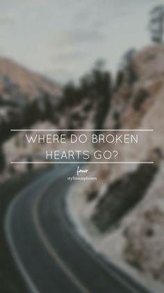 Where Do Broken Hearts Go? • Four Lockscreen — ctto: @stylinsonphones