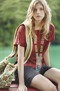 Toast - In A Green Shade. May 2013 Collection Now Online Hippie Chic Fashion, Ethnic Fashion, Simple Outfits, Pretty Outfits, Pretty Clothes, Bohemian Style, Boho Chic, Ethnic Style, Toast Uk