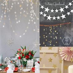 Star Shape Paper Garland Strings Wedding Party Hanging Decoration Bridal Home  | eBay