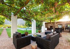 Klein Nektar Manor Accommodation has a gorgeous patio where the vines shade you from the South African sun. Outdoor Seating, Outdoor Decor, Standing Bath, Large Shower, Bedroom With Ensuite, Luxury Accommodation, Lounge Areas, Rental Property, Bed And Breakfast