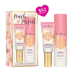 Peach Perfect Dynamic Duo- Too Faced Buy Makeup Online, Makeup To Buy, Makeup Kit, Latest Makeup, Makeup Brands, Makeup Companies, Too Faced Makeup, Cruelty Free Makeup, Setting Spray