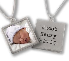 Message Necklace with Custom Photo