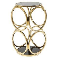 ACHICA   Circuit Side Table, Gold