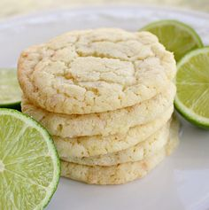 Chewy Coconut Lime Sugar Cookies - Super soft and chewy coconut lime cookies with a hint of lime. These smell amazing when baking! Yummy Cookies, Sugar Cookies, Coconut Cookies, Baby Cookies, Heart Cookies, Valentine Cookies, Easter Cookies, Birthday Cookies, Key Lime Cookies