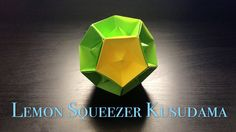 The lemon squeezer is harder than I thought it would be, but it's quite an interesting feat! Origami Modular, Origami Cube, Origami And Kirigami, Origami Ball, Origami Folding, Paper Crafts Origami, Oragami, Origami Boxes, Origami Instructions