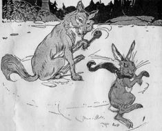 The Rabbit And The Wolf - A Native American Legend Native American Legends, Rabbit Run, Nativity, Wolf, Moose Art, Bunny, Teaching, Illustration, Animals