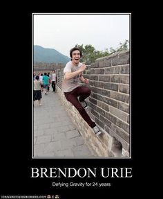 Brendon Urie meme.. THEY HAVE THESE! :O - Life throws you curves. Being prepared…