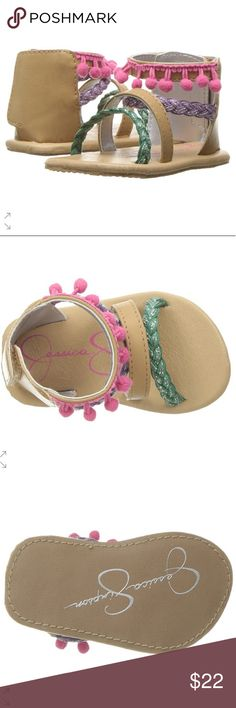 New JS Boho Baby Sandals by Jessica Simpson Adorable BOHO sandals new in box. 🚭Smoke free home, 🐩 Hypoallergenic Pup friendly home!!! Bundle your likes and ill send a great private offer. Price firm unless bundled. As with all my items, only Poshmark transactions, no PayPal or others alike and no trades so Please don't ask.... Thank you. Jessica Simpson Shoes Sandals & Flip Flops