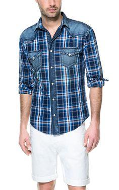 CHECKED SHIRT - Casual - Shirts - Man - ZARA United States
