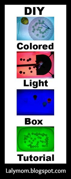LalyMom: DIY Colored Light Box Tutorial. Want to make an easy DIY Light box? Here's how to do it, whether you make it all white or multi-colored!