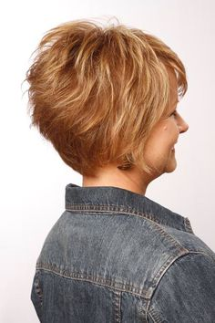 Honey Comb Layered Tousled Look Back View