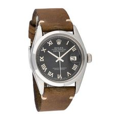 Shop for Pre-owned Rolex Mens Stainless Steel Leather Datejust Black Roman Dial Watch. Get free delivery On EVERYTHING* Overstock - Your Online Watches Store! Rolex Watches For Men, Luxury Watches For Men, Cool Watches, Leather Case, Leather Men, Best Watch Brands, Pre Owned Rolex, Online Watch Store, Fashion Watches